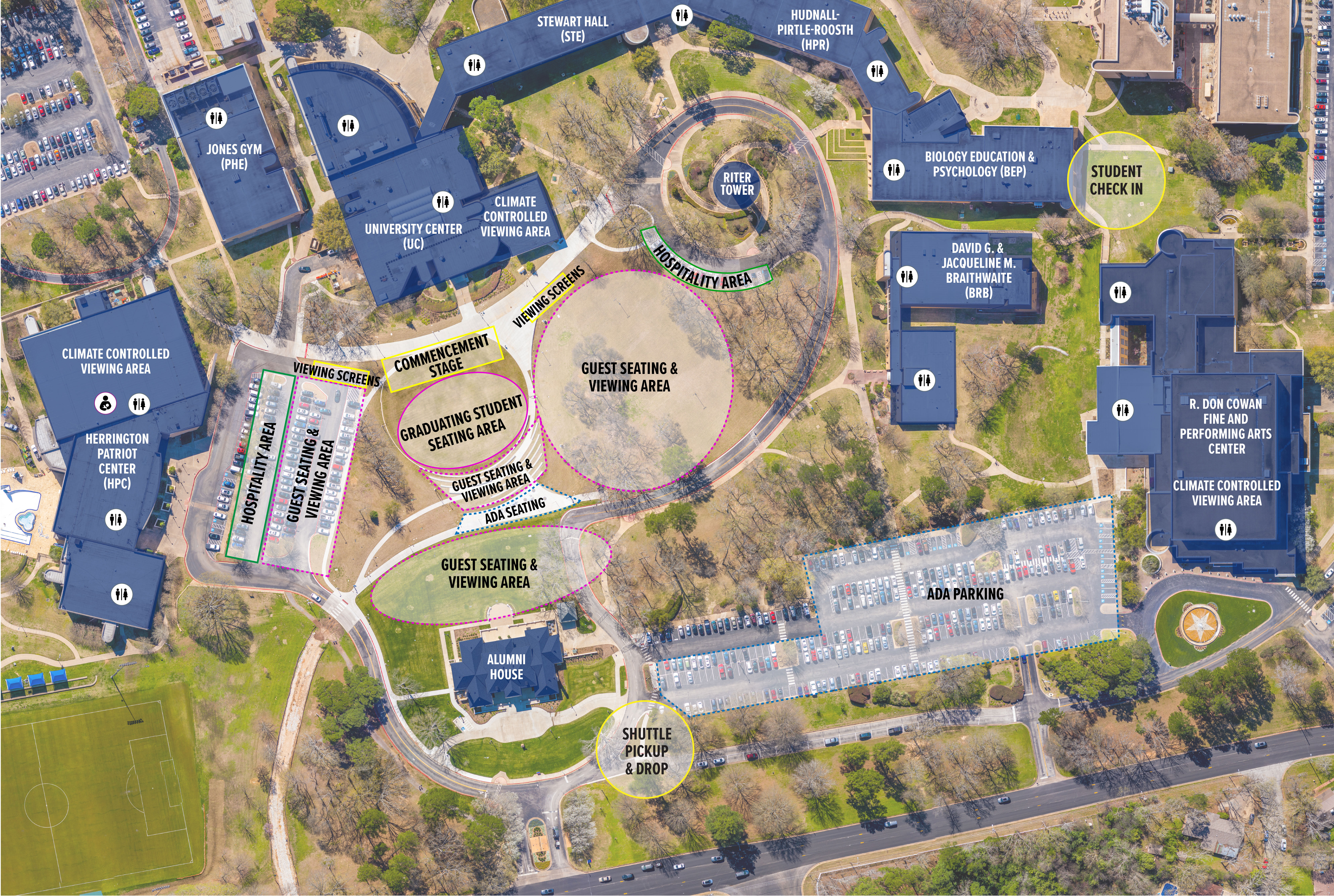 University Of Texas Campus Map Visitor Map   Commencement   UT Tyler
