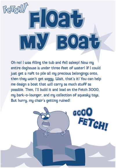 """Float my boat"" challenge description"