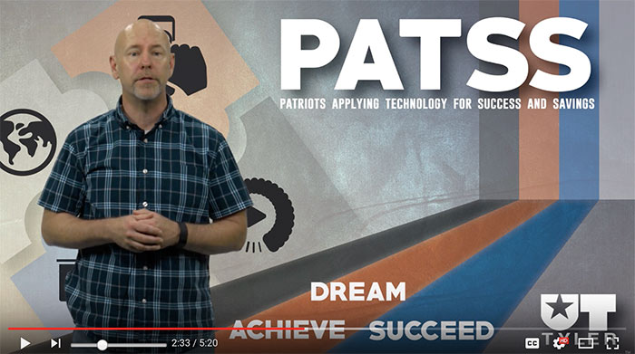 Patriots Applying Technology for Success and Savings video