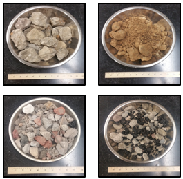 Recycled Concrete Aggregate Samples