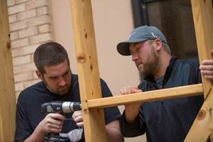 UT Tyler Engineering Students drilling into wood