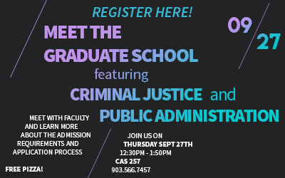 Criminal Justice Meet The Graduate School