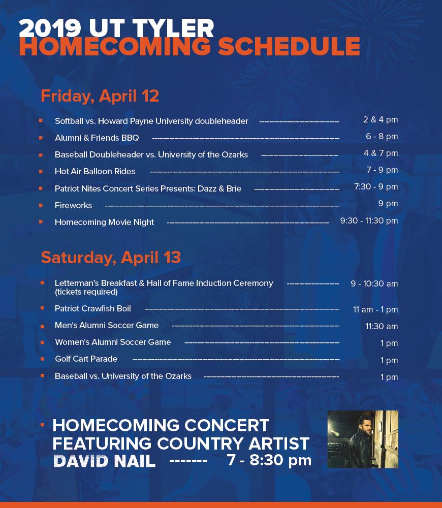 Homecoming | UT Tyler Homecoming, The University of Texas at