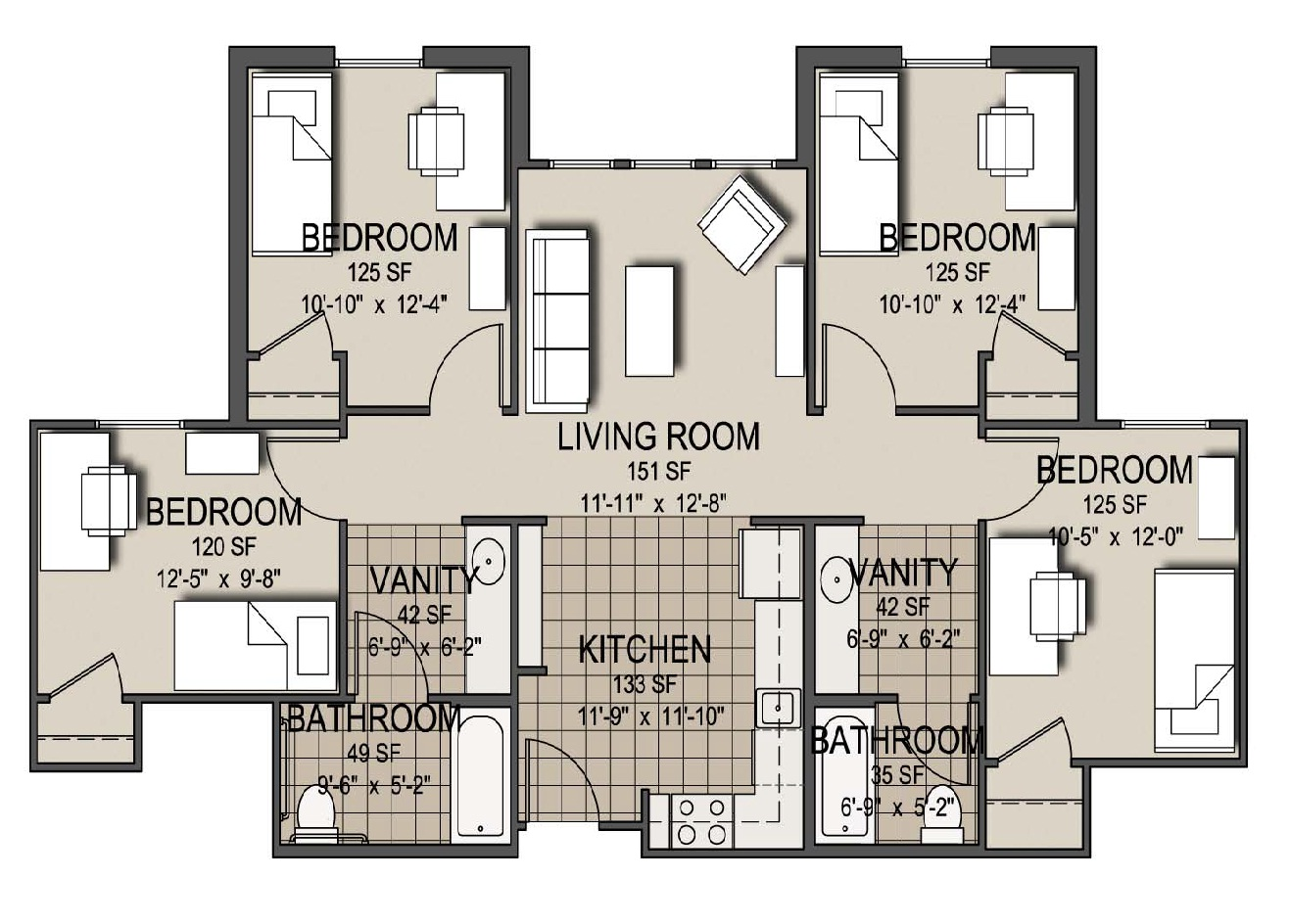 Patriot Village Floor Plans - UT Tyler