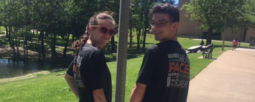 PACE Dual Credit Students at UT Tyler lake