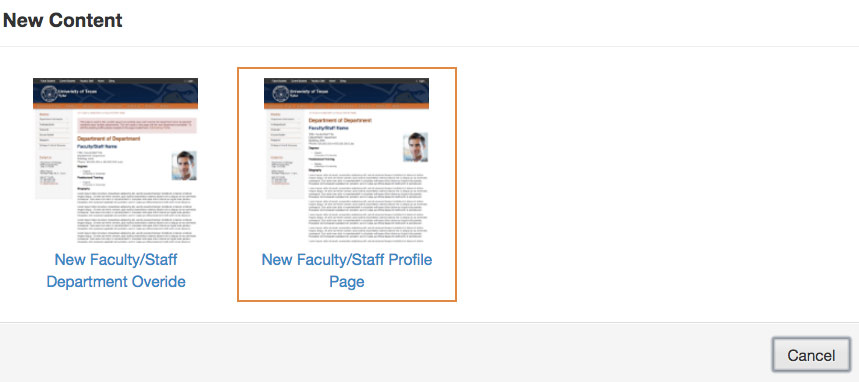 new faculty page