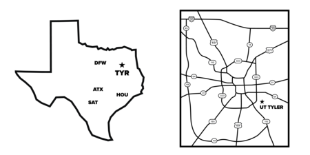 texas and tyler map images