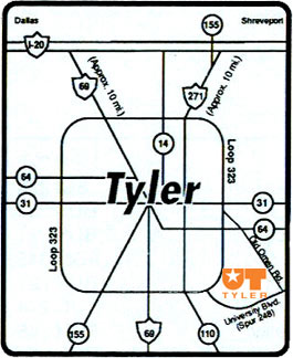UT Tyler Campus Maps and Directions
