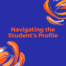 Navigating the Student's Profile